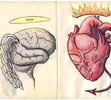 Brain vs Heart by Antonio Méndez Díaz