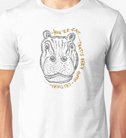 Hippopotamus cartoon sketch Unisex T-Shirt