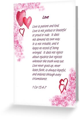 Love - 1Cor. 13:4-7 by Diane Hall