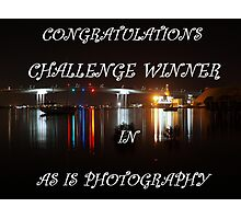 Challenge Banner (As is Photography) Photographic Print