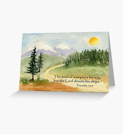 Guidance, Proverbs 16:9 Greeting Card