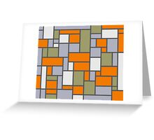 Mondrian Style Greeting Card