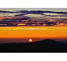 Smokey Scarlet Sunset Photographic Print