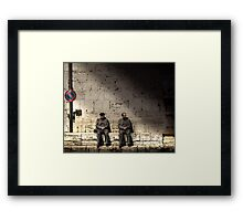 Men in Grey Framed Print