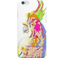 7 DAYS OF SUMMER- COCKATOO ART IN BLUE AND PEACH iPhone Case/Skin