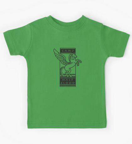 Camp Half-Blood Shirt (Black Design) Kids Tee