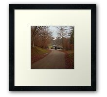 autumn drive Framed Print