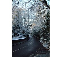 winter drive Photographic Print