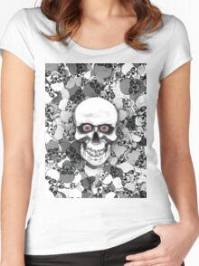 Skulls With Eyes Women's Fitted Scoop T-Shirt