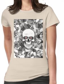 Skulls With Eyes Womens Fitted T-Shirt
