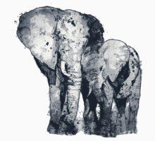 Elelphants One Piece - Short Sleeve