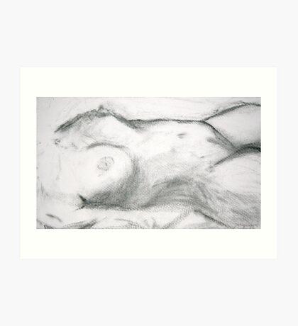 Female Form Study Art Print