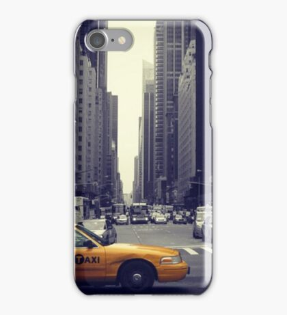 New York Vintage Taxi Cab iPhone Case/Skin