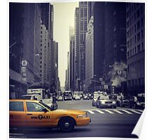 New York Vintage Taxi Cab Poster
