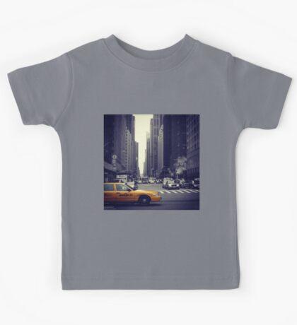 New York Vintage Taxi Cab Kids Tee