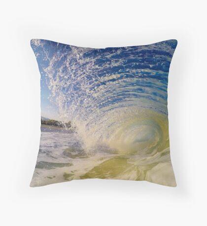 Hawaii Shore-Break Flare Throw Pillow