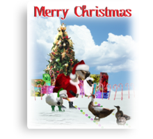 A Web Footed Santa Canvas Print