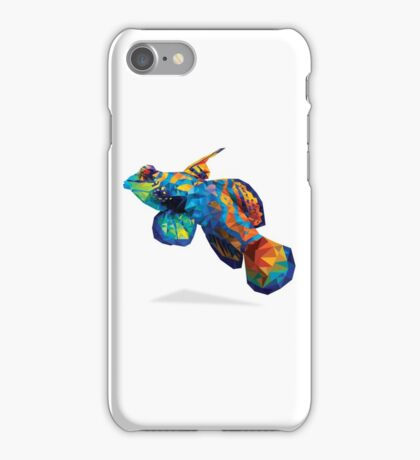 Geometric Abstract Mandarin Dragonette Goby iPhone Case/Skin