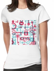 old keys Womens Fitted T-Shirt