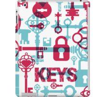 old keys iPad Case/Skin