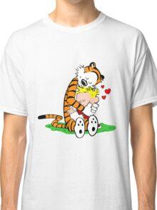 Calvin and Hobbes hugging Classic T-Shirt