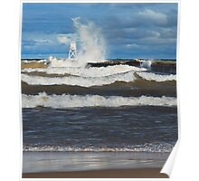 Big Waves at Grand Marais Poster