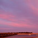 Lights On, Barwon Heads Wooden Bridge by Joe  Mortelliti
