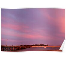 Lights On, Barwon Heads Wooden Bridge Poster