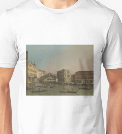 Canaletto - The Grand Canal With The Rialto Bridge And The Fondaco Dei Tedeschi, 1750 Unisex T-Shirt