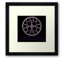 Self Matters Framed Print