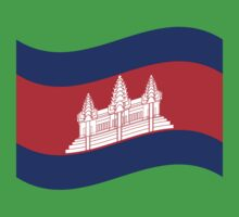 Cambodian Khmer Flag Wave Kids Clothes
