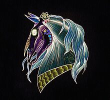 Day Of The Dead Skull Horse Head by Anila Tac