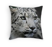 The Snow Leopard Throw Pillow