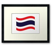 Thai Flag Wave Framed Print