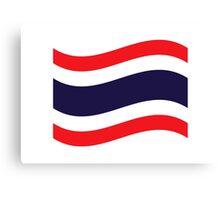 Thai Flag Wave Canvas Print