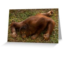 Crouching Ape, Hidden Assets Greeting Card