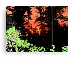 Sumi-e Sunset Canvas Print