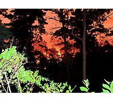 Sumi-e Sunset Photographic Print