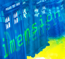 TARDIS Time and Relative Dimension in Space Sticker