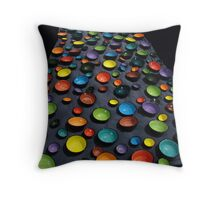 coloured bowls Throw Pillow