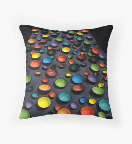coloured bowls Throw Pillow