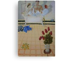 Bathroom Scene Canvas Print