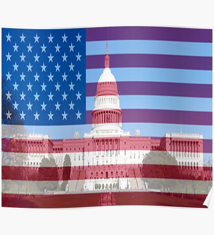 United States Capital Building Poster
