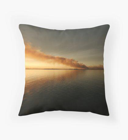 Smokey Sunset Throw Pillow