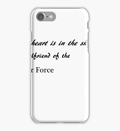 Half my heart is in the sky - girlfriend iPhone Case/Skin