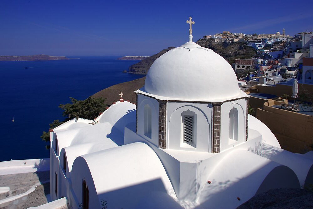 View from Thira by RedChevy