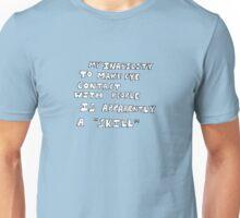 re: eye contact (version b) Unisex T-Shirt