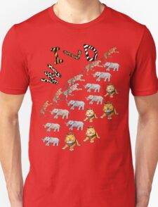 Wild Safari, African Wildlife Design T-Shirt