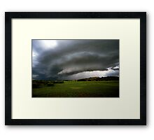 Top-end thunderstorm Framed Print
