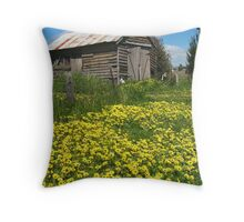 Yellow Daisies Snake Valley Throw Pillow